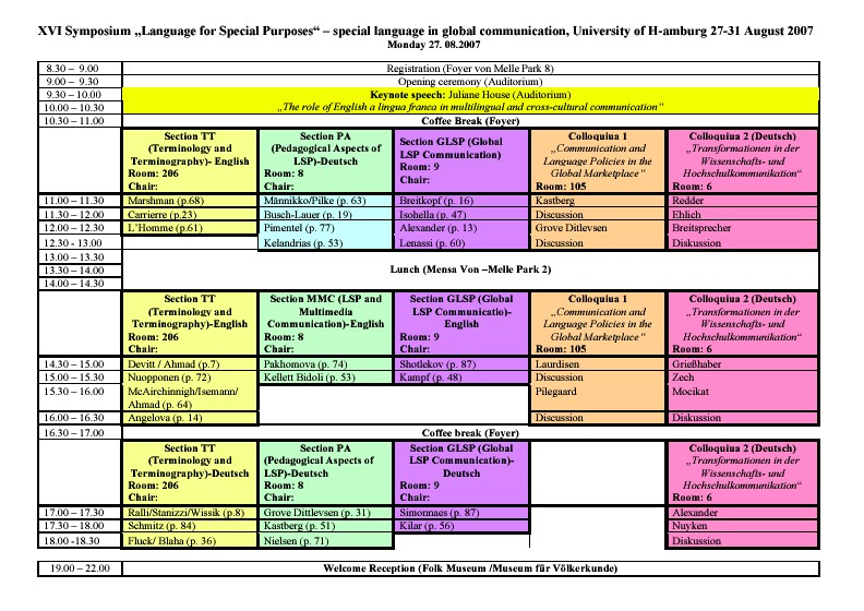 language for special purposes Modern language teaching to adults: language for special purposes de greve, m, ed and others.